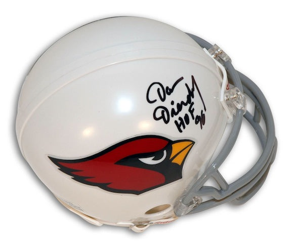"Autographed Dan Dierdorf St. Louis Cardinals Mini Helmet Inscribed ""HOF 96"" PSM-Powers Sports Memorabilia"
