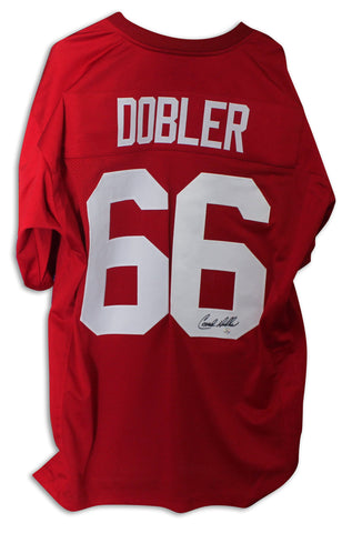 Conrad Dobler St. Louis Cardinals Autographed Red Jersey PSM-Powers Sports Memorabilia