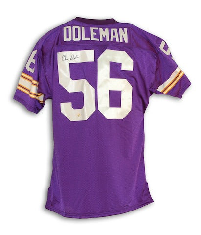 Autographed Chris Doleman Minnesota Vikings Purple Throwback Jersey PSM-Powers Sports Memorabilia
