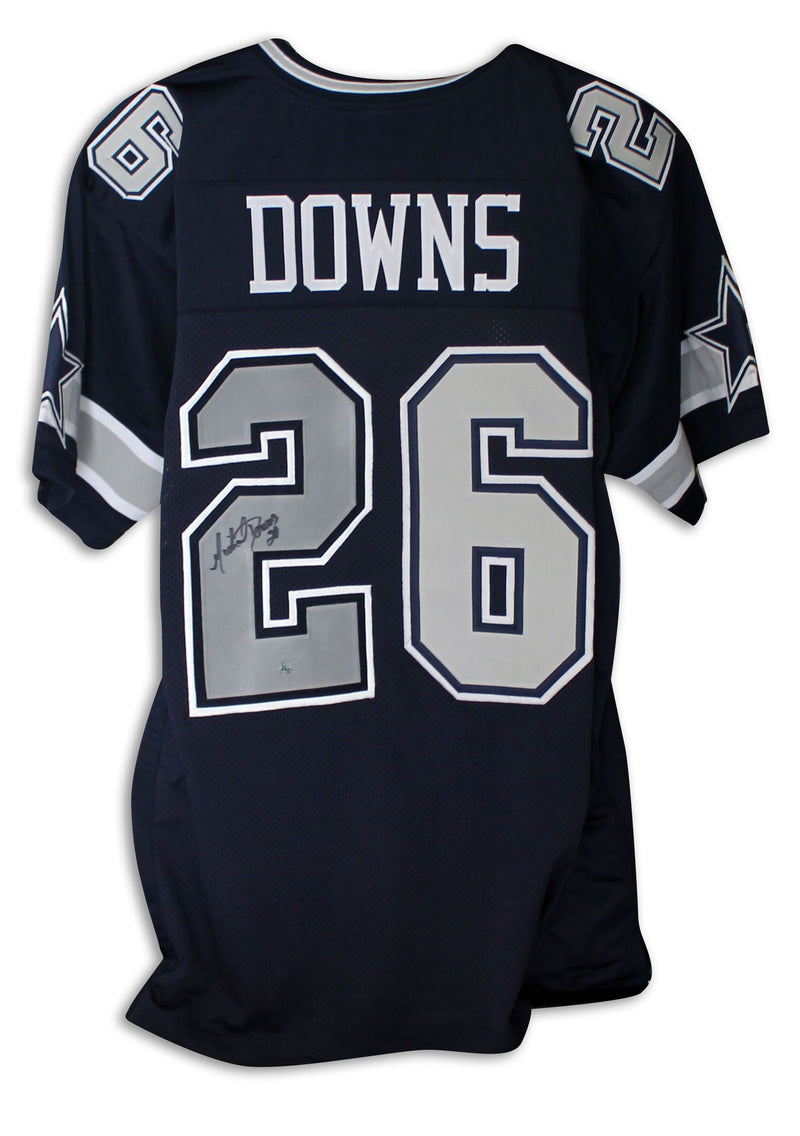 Michael Downs Dallas Cowboys Autographed Navy Blue Jersey PSM-Powers Sports Memorabilia