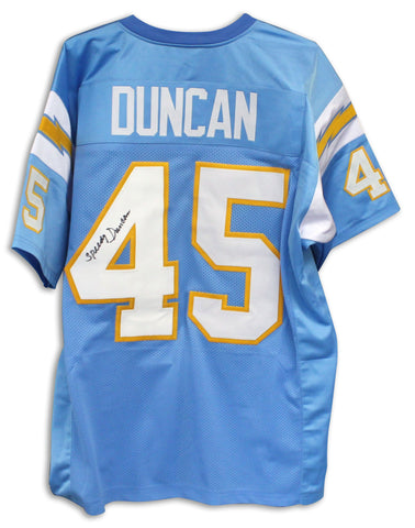 Speedy Duncan San Diego Chargers Autographed Blue Jersey PSM-Powers Sports Memorabilia