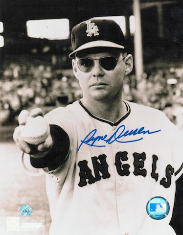 Autographed Ryne Duren Los Angeles Angels 8x10 Photo PSM-Powers Sports Memorabilia