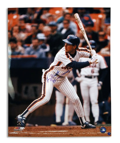 "Autographed Lenny Dykstra New York Mets 16x20 Photo Inscribed ""86 WS Champs"" PSM-Powers Sports Memorabilia"