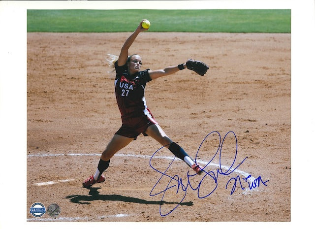 "Autographed Jennie Finch 8x10 Photos Inscribed ""Team USA"" PSM-Powers Sports Memorabilia"