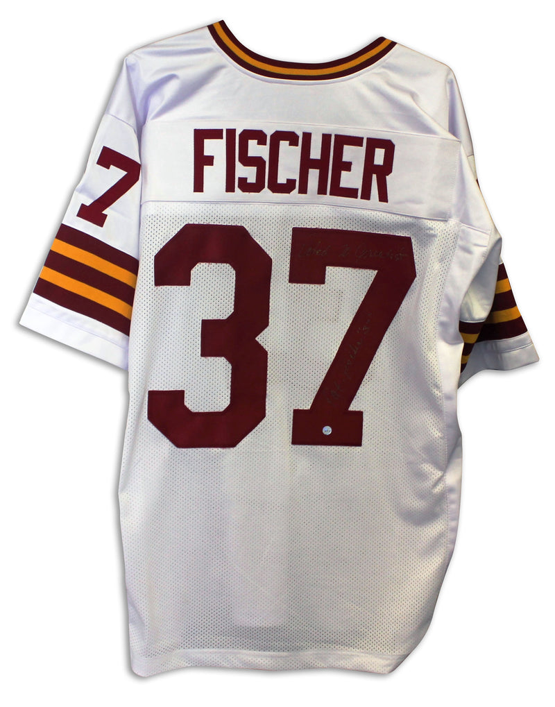 "Pat Fischer Washington Redskins Autographed White Jersey Inscribed ""Voted 70 Greatest"" PSM-Powers Sports Memorabilia"