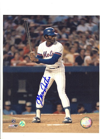 Autographed George Foster New York Mets 8x10 Photo PSM-Powers Sports Memorabilia