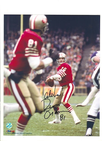 "Autographed Russ Francis San Francisco 49ers 8x10 Photo Inscribed ""Aloha"" PSM-Powers Sports Memorabilia"