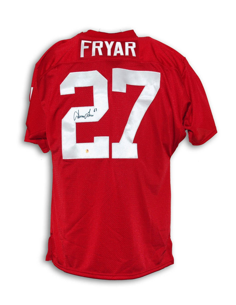Irving Fryar Nebraska Cornhuskers Autographed Throwback Jersey PSM-Powers Sports Memorabilia