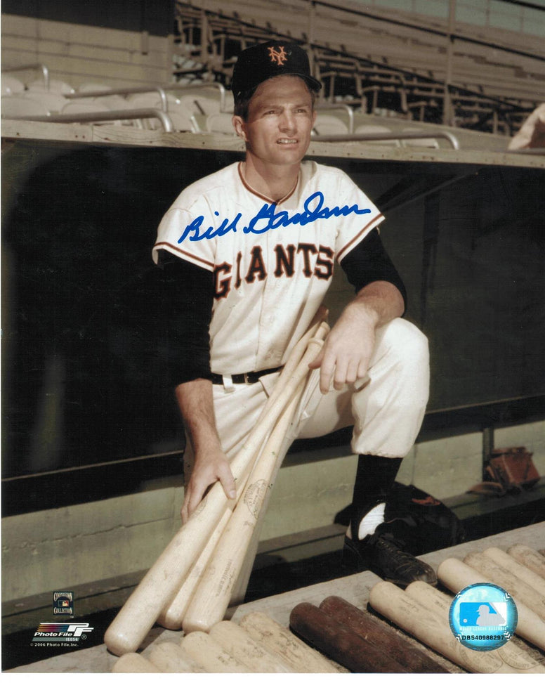 Bill Gardner New York (Baseball) Giants Autographed 8x10 Photo PSM-Powers Sports Memorabilia