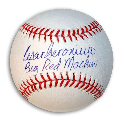 "Autographed Cesar Geronimo Baseball Inscribed ""Big Red Machine"" PSM-Powers Sports Memorabilia"