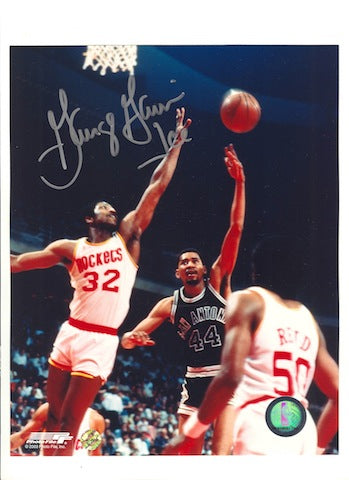 "Autographed George ""Ice Man"" Gervin San Antonio Spurs 8x10 Photo PSM-Powers Sports Memorabilia"