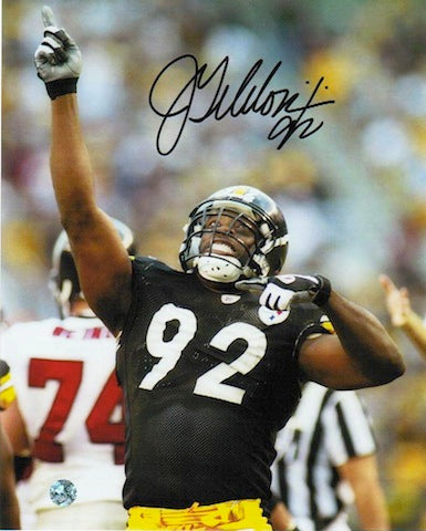 Autographed Jason Gildon Pittsburgh Steelers 8x10 Photo PSM-Powers Sports Memorabilia