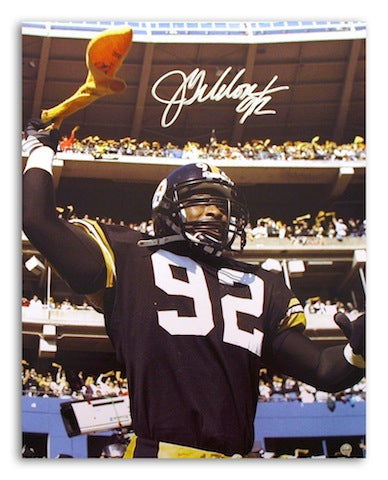 Autographed Jason Gildon Pittsburgh Steelers 16x20 Photo PSM-Powers Sports Memorabilia