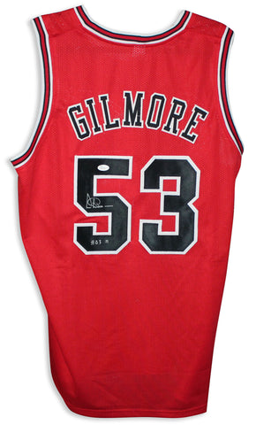 "Artis Gilmore Chicago Bulls Red Jersey Inscribed ""HOF 11"" PSM-Powers Sports Memorabilia"