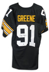 Kevin Greene Pittsburgh Steelers Autographed Black Jersey PSM-Powers Sports Memorabilia