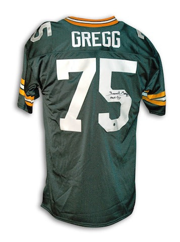 "Autographed Forrest Gregg Green Bay Packers Throwback Jersey Inscribed ""HOF 77"" PSM-Powers Sports Memorabilia"