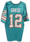 "Bob Griese Miami Dolphins Autographed Teal Jersey Inscribed ""17-0"" PSM-Powers Sports Memorabilia"
