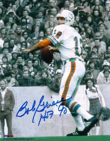 "Autographed Bob Griese Miami Dolphins 8x10 Photo inscribed ""HOF 90"" PSM-Powers Sports Memorabilia"