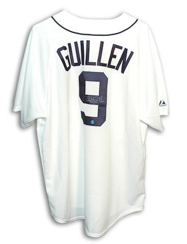 Autographed Carlos Guillen Detroit Tigers White Majestic Jersey PSM-Powers Sports Memorabilia