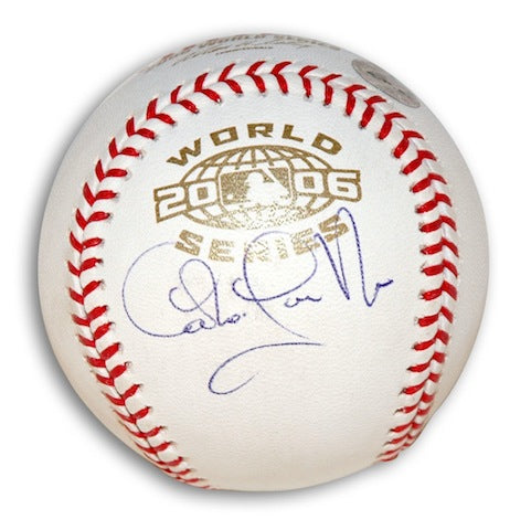 Autographed Carlos Guillen 2006 World Series Baseball PSM-Powers Sports Memorabilia