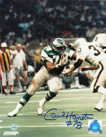 Autographed Carl Hairston Philadelphia Eagles 8x10 Photo PSM-Powers Sports Memorabilia