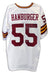 Chris Hanburger Washington Redskins Autographed White Jersey PSM-Powers Sports Memorabilia