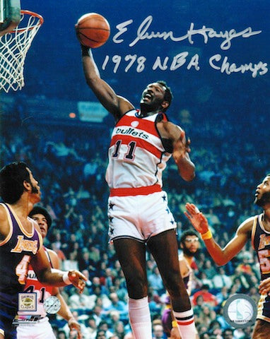 "Autographed Elvin Hayes Washington Bullets 8x10 Photo Inscribed ""1978 NBA Champs"" PSM-Powers Sports Memorabilia"