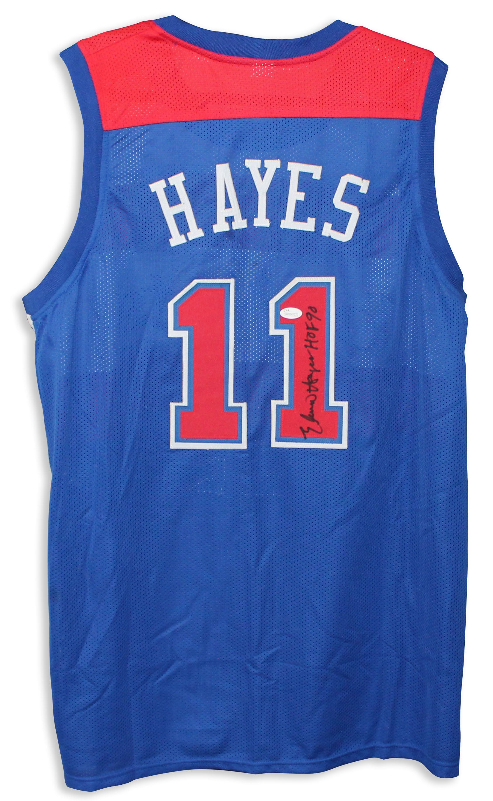 Elvin Hayes Washington Bullets Autographed Blue Jersey PSM-Powers Sports Memorabilia