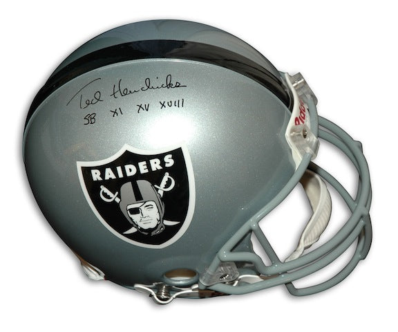 "Autographed Ted Hendricks Oakland Raiders Proline Helmet Inscribed ""SB XI XV XVIII"" PSM-Powers Sports Memorabilia"