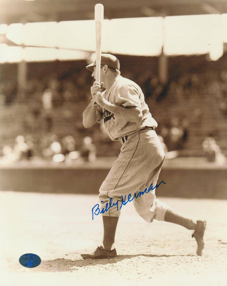 Billy Herman Boston Braves Autographed 8x10 Photo -Hit- PSM-Powers Sports Memorabilia
