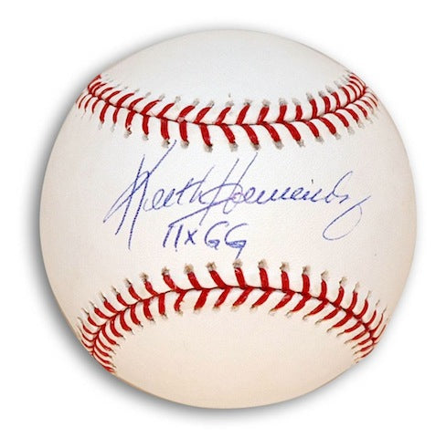 "Autographed Keith Hernandez MLB Baseball Inscribed ""11x GG"" PSM-Powers Sports Memorabilia"