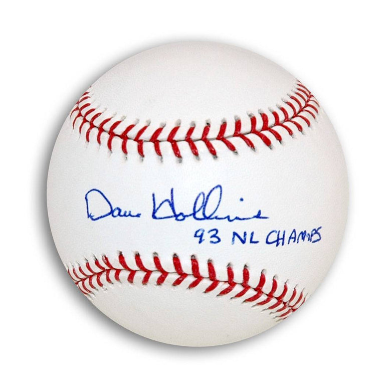 "Dave Hollins Autographed MLB Baseball Inscribed ""93 NL Champs"" PSM-Powers Sports Memorabilia"