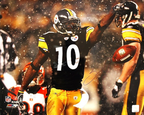 Autographed Santonio Holmes Pittsburgh Steelers 16x20 Photo PSM-Powers Sports Memorabilia
