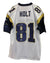 "Torry Holt St. Louis Rams Autographed White Reebok Jersey Inscribed ""Super Bowl Champs!!"" PSM-Powers Sports Memorabilia"