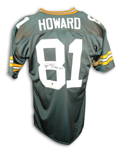 "Autographed Desmond Howard Green Bay Packers Green Throwback Jersey Inscribed ""SB XXXI MVP"" PSM-Powers Sports Memorabilia"