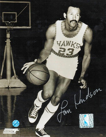 Autographed Lou Hudson St. Louis Hawks 8x10 Photo PSM-Powers Sports Memorabilia