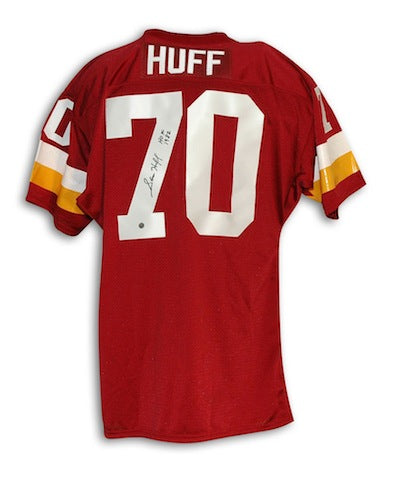 "Autographed Sam Huff Washington Redskins Red Throwback Jersey Inscribed ""HOF 82"" PSM-Powers Sports Memorabilia"