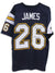 "Lionel James San Diego Chargers Autographed Blue Jersey Inscribed ""Little Train"" PSM-Powers Sports Memorabilia"