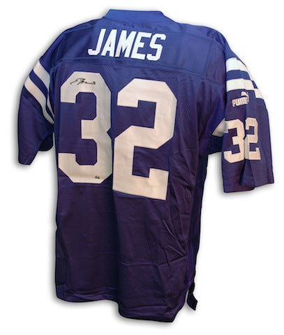 Autographed Edgerrin James Indianapolis Colts Authentic NFL Puma Blue Jersey PSM-Powers Sports Memorabilia