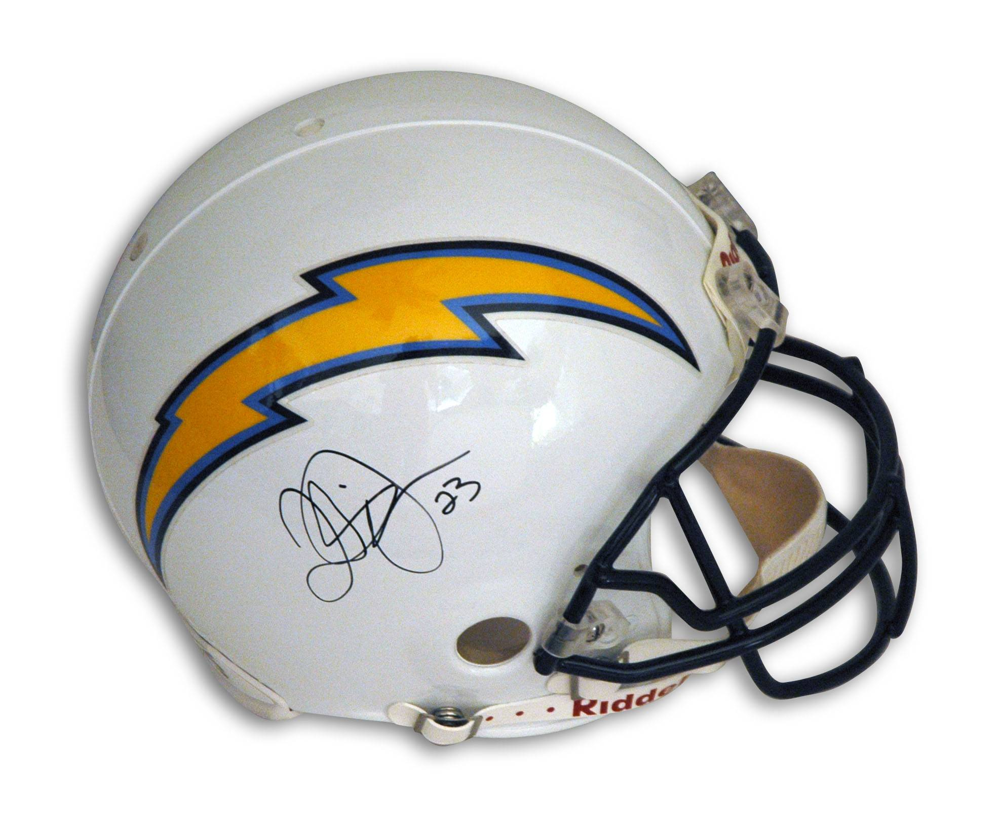 Quentin Jammer San Diego Chargers Autographed Proline Helmet PSM-Powers Sports Memorabilia