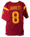 "Dwayne Jarrett USC Trojans Autographed Red Jersey Inscribed ""Fight On"" PSM-Powers Sports Memorabilia"