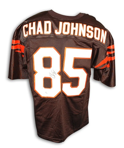 Autographed Chad Johnson Cincinnati Bengals Black Custom Made Jersey PSM-Powers Sports Memorabilia