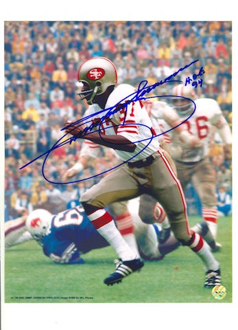 "Autographed Jimmy Johnson San Francisco 49ers 8x10 Photo Inscribed ""HOF 94"" PSM-Powers Sports Memorabilia"