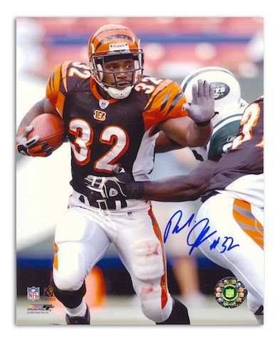 Autographed Rudi Johnson Cincinnati Bengals 8x10 PSM-Powers Sports Memorabilia