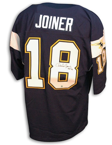Autographed Charlie Joiner San Diego Chargers Throwback Blue Jersey PSM-Powers Sports Memorabilia