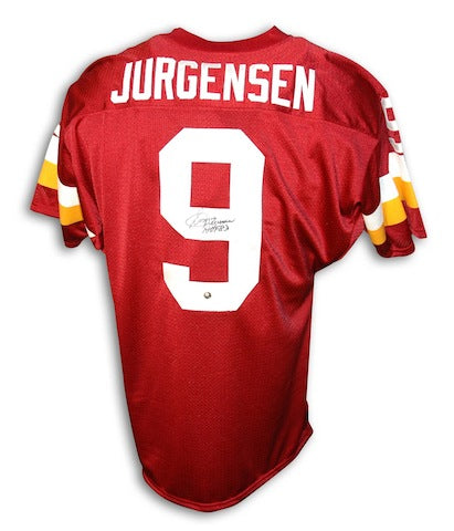 "Autographed Sonny Jurgensen Washington Redskins Red Throwback Jersey Inscribed ""HOF 83"" PSM-Powers Sports Memorabilia"