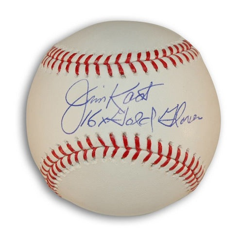 "Autographed Jim Kaat MLB Baseball Inscribed ""16X Gold Glove"" PSM-Powers Sports Memorabilia"