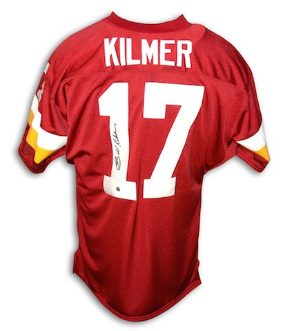 Autographed Billy Kilmer Washington Redskins Red Throwback Jersey PSM-Powers Sports Memorabilia