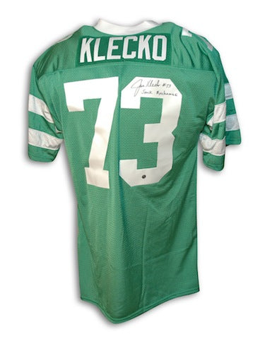 "Autographed Joe Klecko New York Jets Green Throwback Jersey Inscribed ""Sack Exchange"" PSM-Powers Sports Memorabilia"