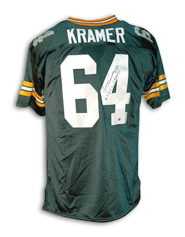"Autographed Jerry Kramer Green Bay Packers Throwback Jersey Inscribed ""5X NFL Champs"" PSM-Powers Sports Memorabilia"